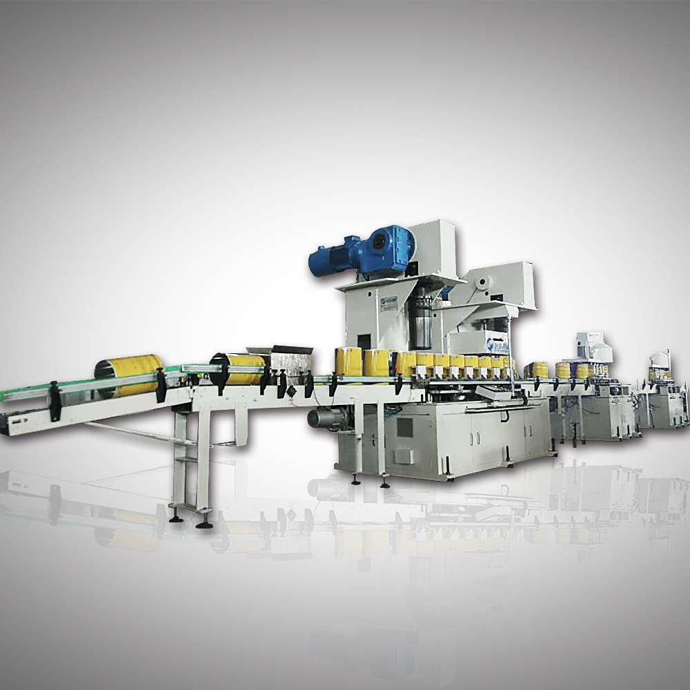 Full automatic cans body combination machine for neck-in can
