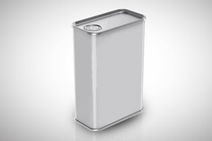 small square can
